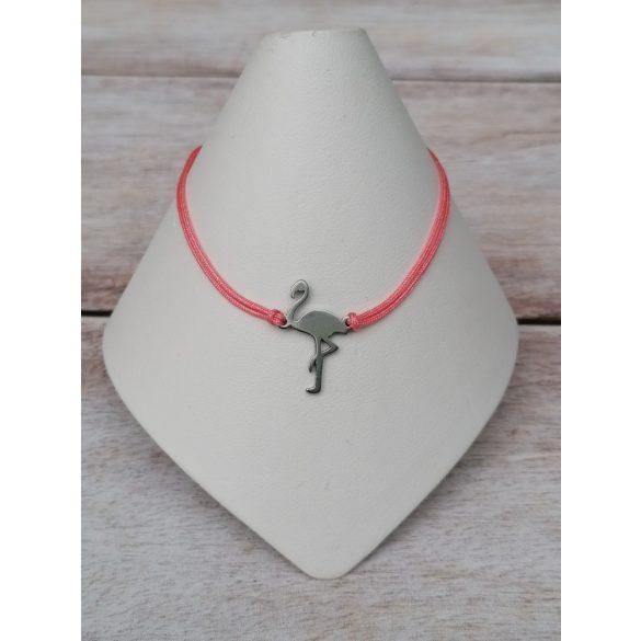 Flamingo nemesacél minimal karkötő