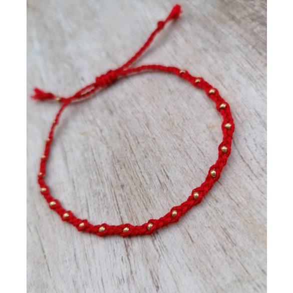 SPUN Red&Gold karkötő