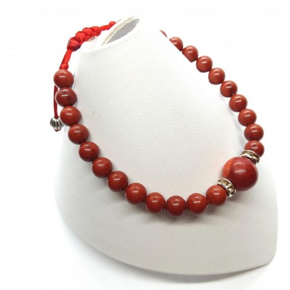 Damen Karkötő Vörös Jáspis-Korall