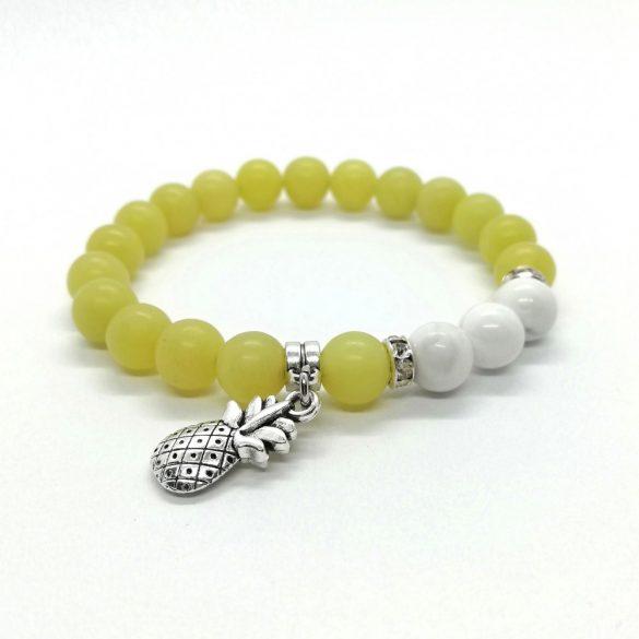 Ásványkarkötő citrom Jade howlit