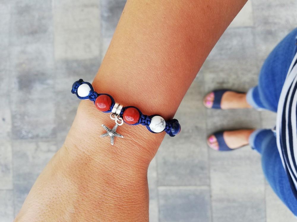 ccb15400fe NAVY karkötő Szodalit-Howlit - BIGI's Handmade Jewellery ...