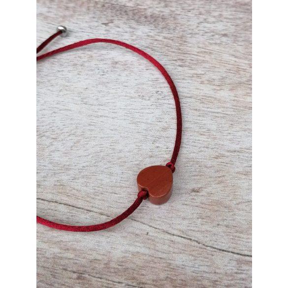 Piros Kitartàs karkötő-Vörös Jàspis Szív