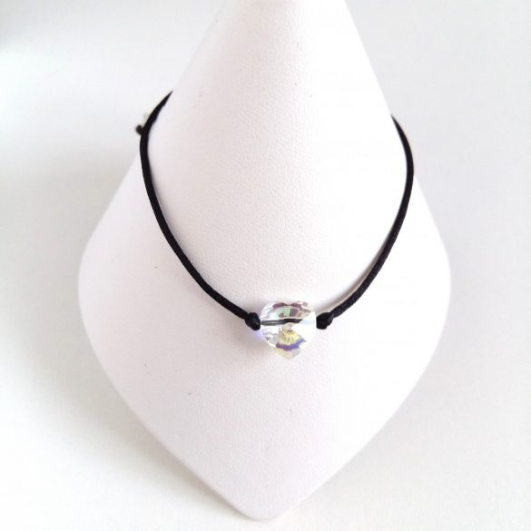 Minimál Design Swarovski karkötő -Szív