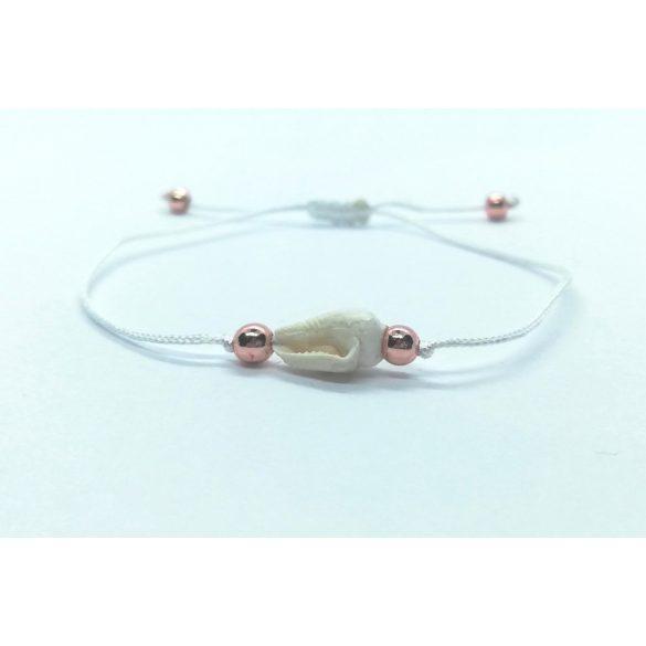 White Snail Minimál karkötő
