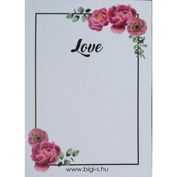 Kisérőkártya - LOVE