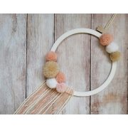 Baby Circle-Peach fali dísz kézzel készült