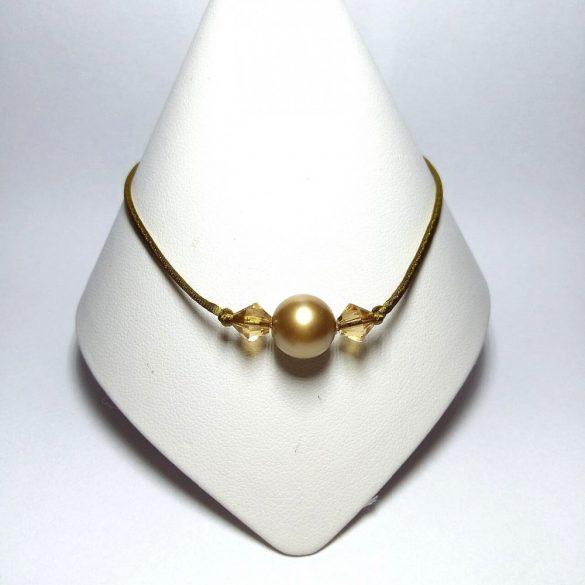 Angel Pearl Swarovski karkötő -Gold