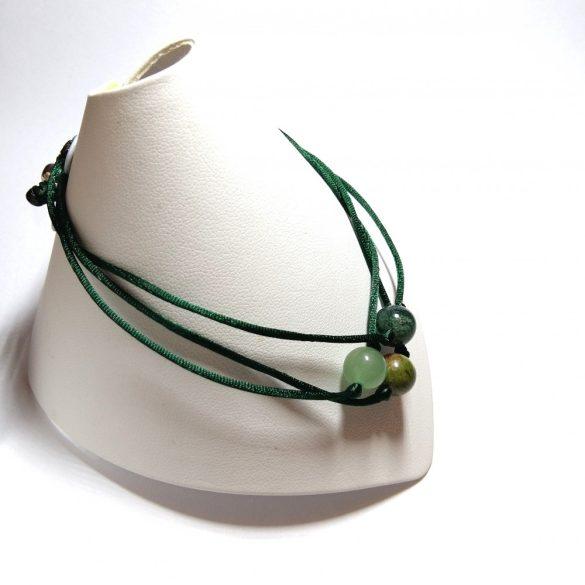 Apró Csakra 3in1 karkötő green