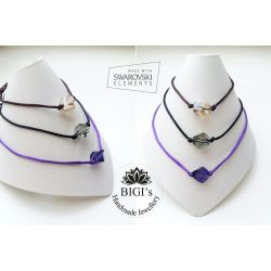 Minimal Design Swarovski crystal karkötő